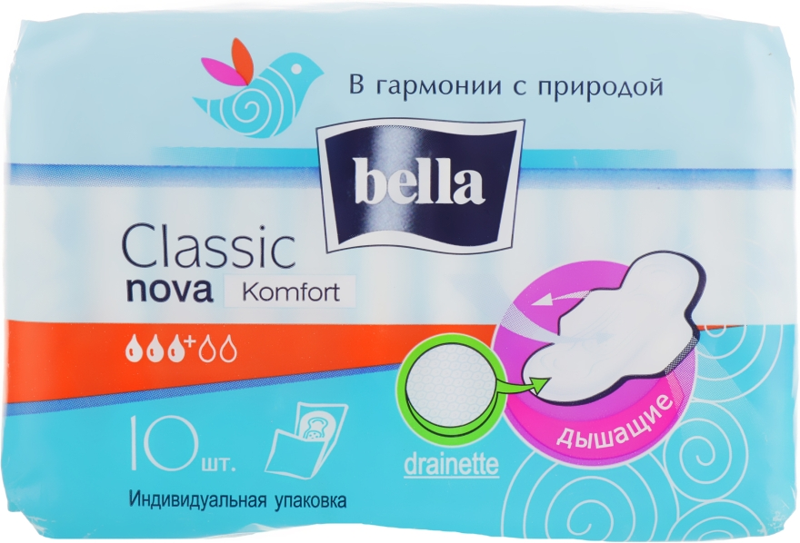 Прокладки Classic Nova Comfort Drainette, 10шт - Bella