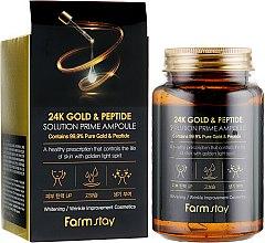 Духи, Парфюмерия, косметика Антивозрастная ампульная сыворотка с 24K золотом и пептидами - FarmStay 24K Gold & Peptide Solution Prime Ampoule