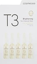 Духи, Парфюмерия, косметика Освежающая тканевая маска с экстрактом зеленая чая и лимона - Cosmetea T3 Brightening Tea Ampoule Mask
