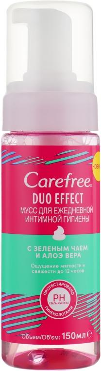 Мусс для ежедневной интимной гигиены с зеленым чаем и алоэ вера - Carefree Duo Effect