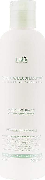 Шампунь с хной против выпадения волос - La'dor Pure Henna Shampoo
