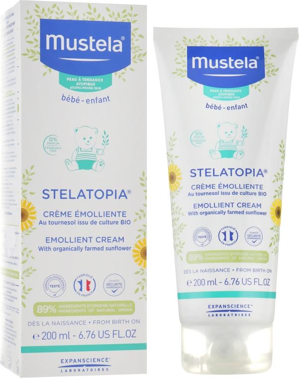 Крем для сухой и атопической кожи - Mustela Stelatopia Emollient Cream With Sunflower