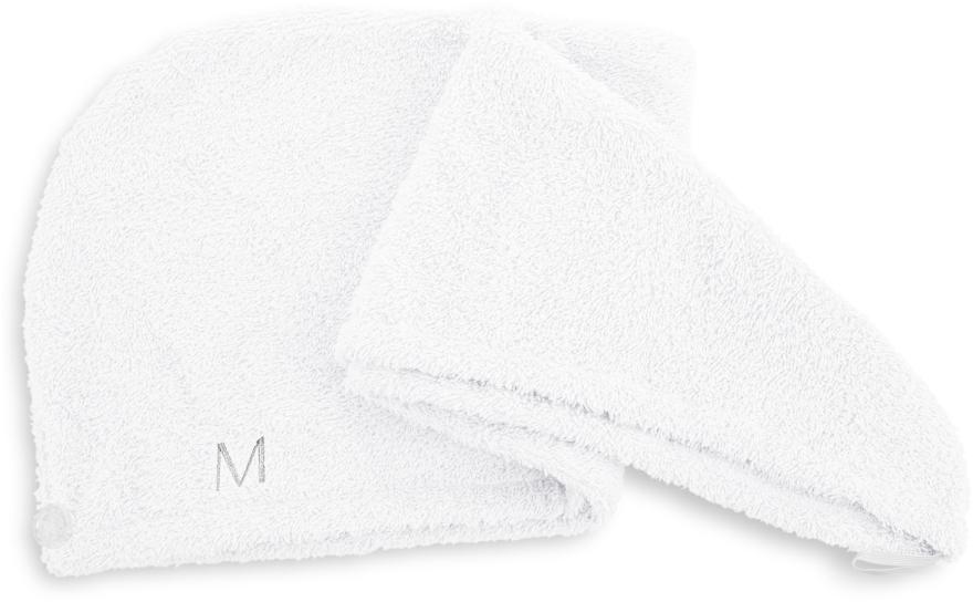 Полотенце-тюрбан для сушки волос, белое - Makeup