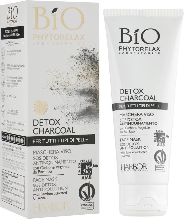 Очищающая маска-детокс с активированным углем для лица - Phytorelax Laboratories Bio Phytorelax Detox Charcoal Face Mask Sos Detox Anti-Pollution