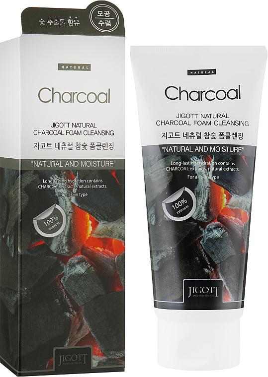 Очищающая пенка с углем - Jigott Natural Charcoal Foam Cleansing