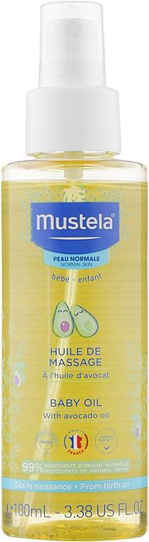 Масло для массажа - Mustela Bebe Massage Oil