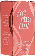 Духи, Парфюмерия, косметика Жидкий пигмент для губ и щечек - Benefit Cha Cha Tint (мини)