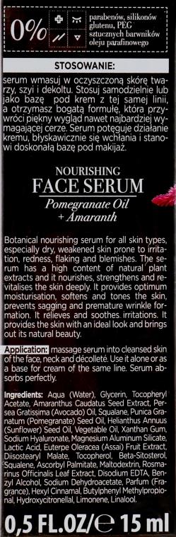 """Сыворотка для лица """"Масло граната и амарантус"""" - Bielenda Botanic Formula Nourishing Face Serum Pomegranate Oil+Amaranth — фото N2"""