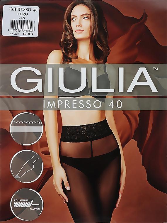 """Колготки для женщин """"Impresso"""" 40 Den, nero - Giulia"""