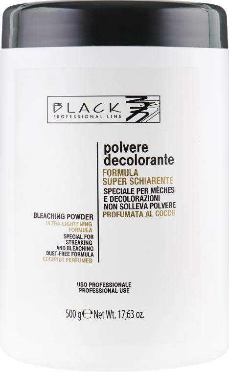 Белый осветляющий порошок с ароматом кокосового ореха - Black Professional Line White Coconut No Dust Bleaching Powder