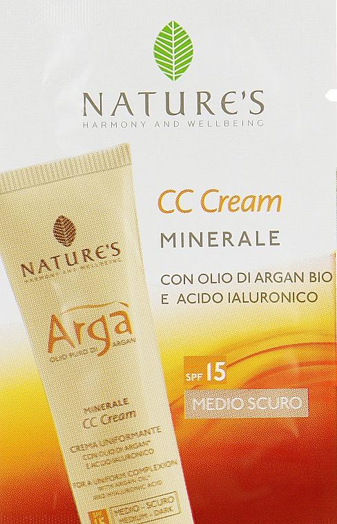 Крем для коррекции тона лица - Nature's Arga CC Light Color Cream SPF 15 (пробник)