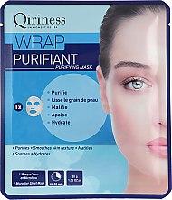 Духи, Парфюмерия, косметика Тканевая маска для лица, очищающая - Qiriness Wrap Purifiant Mask
