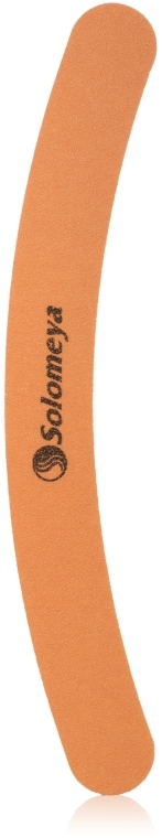 "Пилка для ногтей ""Бумеранг"", 100/100 грит - Solomeya Curved Pink File"