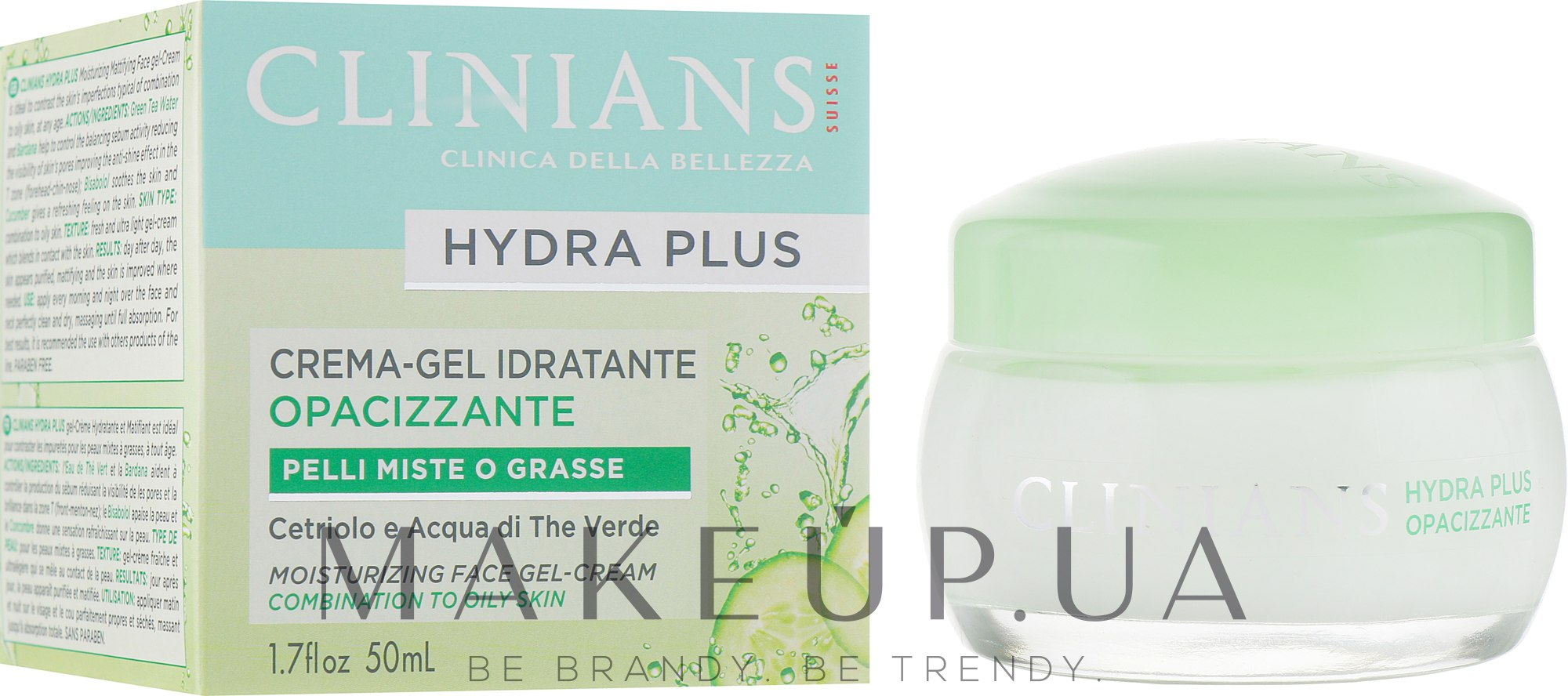 Гель-крем для лица - Clinians Hydra Plus Moisturizing Face Gel-Cream — фото 50ml