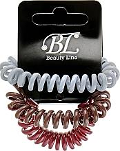 Духи, Парфюмерия, косметика Набор резинок для волос, 405004, бордовая+серая+коричневая - Beauty Line