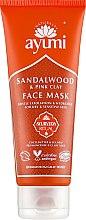 Духи, Парфюмерия, косметика Маска для лица с сандаловым деревом и розовой глиной - Ayumi Sandalwood & Pink Clay Face Mask