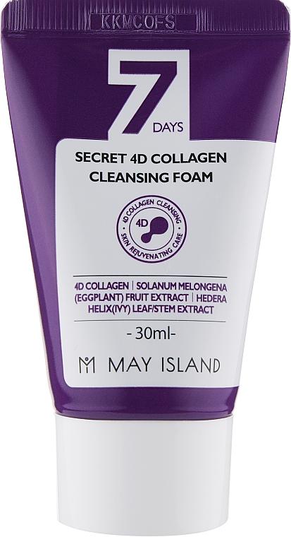 Коллагеновая пенка для умывания - May Island 7 Days Secret 4D Collagen Cleansing Foam (мини)