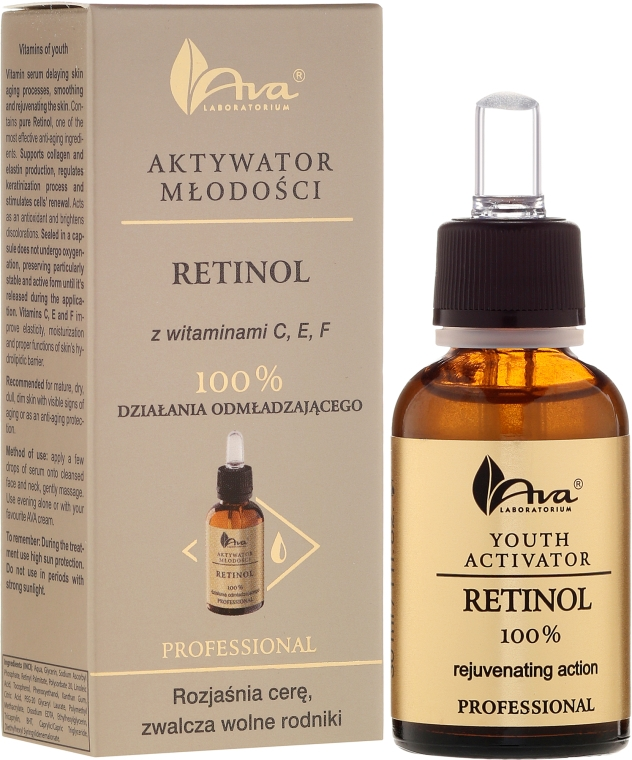 Активатор молодости с ретинолом и витаминами С, Е, F - Ava Laboratorium Youth Activator Retinol