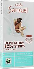 Духи, Парфюмерия, косметика Пластырь с воском для депиляции тела с экстрактом алоэ - Joanna Sensual Dipilatory Body Strips