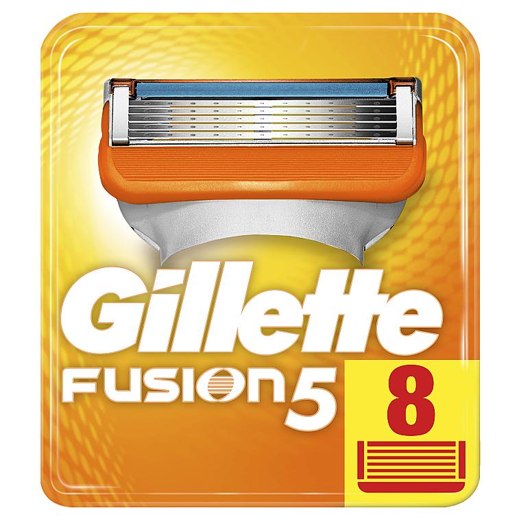Сменные кассеты для бритья, 8 шт. - Gillette Fusion