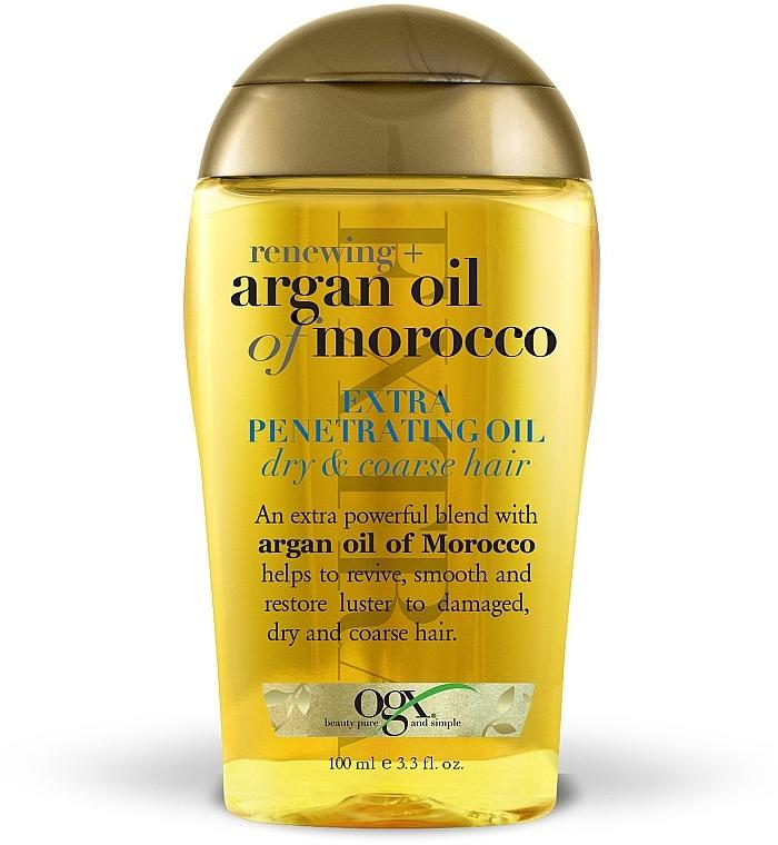 Аргановое масло Марокко для глубокого восстановления волос - OGX Moroccan Argan Oil Extra Penetrating Oil