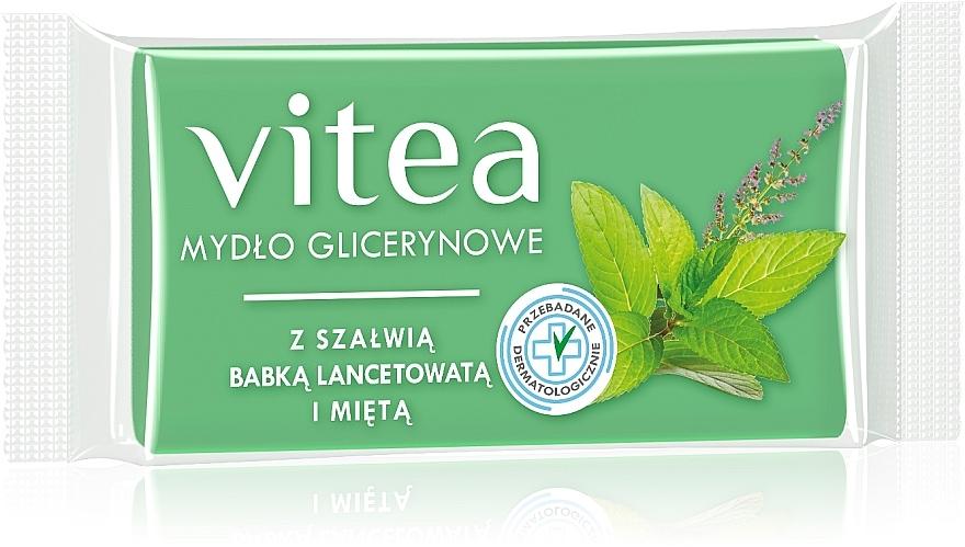 Глицериновое мыло с экстрактом шалфея и мяты - Vitea Glycerin Soap