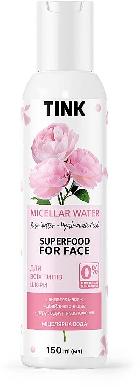 Мицеллярная вода с гидролатом розы и гиалуроновой кислотой - Tink Micellar Water