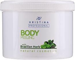 """Духи, Парфюмерия, косметика Скраб для тела """"Бразильские травы"""" - Hristina Professional Brazilian Herb Body Peeling"""