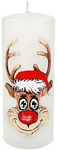"""Духи, Парфюмерия, косметика Декоративная свеча """"Рудольф"""", белая, 7х18см - Artman Christmas Candle Rudolf"""