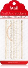 Духи, Парфюмерия, косметика Наклейка для дизайна ногтей - Kodi Professional Nail Art Stickers FL021