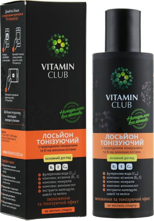 Лосьон тонизирующий с природными минералами и 8-ю аминокислотами - VitaminClub