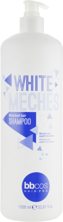 Шампунь для обесцвеченых волос - BBcos White Meches Highlighted Hair Shampoo