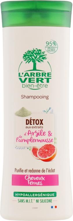 Детокс-шампунь для тусклых волос с экстрактами глины и грейпфрута - L'Arbre Vert Detox Shampoo