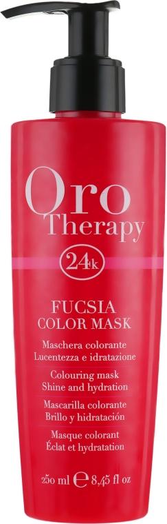 "Тонирующая маска для волос ""Фуксия"" - Fanola Oro Therapy Colouring Mask"