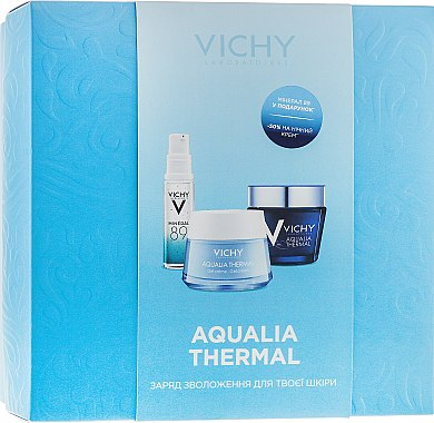 Набор - Vichy Aqualia Thermal (day/cr/50ml + night/cr/75ml + gel/10ml)