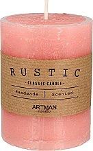 Духи, Парфюмерия, косметика Ароматическая свеча, 7х9 см., розовая - Artman Rustic
