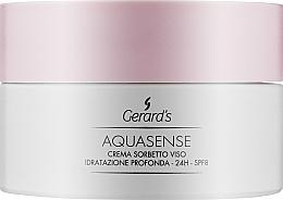 Духи, Парфюмерия, косметика Интенсивный увлажняющий крем с сорбетом для лица - Gerard's Cosmetics Aquasense Intensive Moisturising Face Sorbet Cream 24h Spf 8