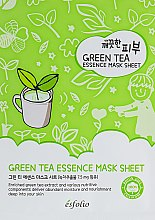 Парфумерія, косметика Тканинна маска з зеленим чаєм - Esfolio Pure Skin Green Tea Essence Mask Sheet