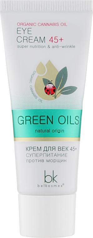 Крем для век 45+ суперпитание против морщин - BelKosmex Green Oils Eye Cream