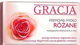 Духи, Парфюмерия, косметика Мыло туалетное с экстрактом розы - Gracja Rose Cream Soap