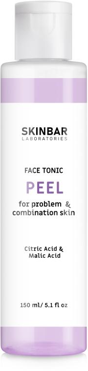 """Тоник с отшелушивающим эффектом для проблемной и комбинированной кожи """"Peel"""" - SKINBAR Tonic With Lactic Acid"""