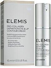 Духи, Парфюмерия, косметика Лифтинг-крем для губ и век - Elemis Pro-Intense Eye and Lip Contour Cream
