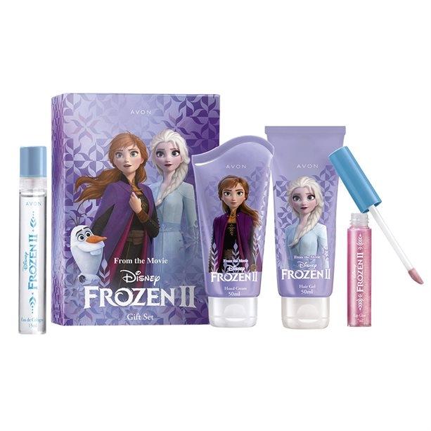 Avon From the Movie Disney Frozen II - Набор (edt/15ml + h/cr/50ml + lip/gloss/7m + gel/50ml)