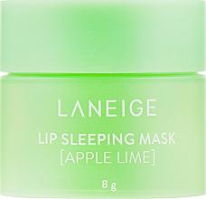 Духи, Парфюмерия, косметика Интенсивно регенерирующая маска для губ с ароматом яблока и лайма - Laneige Lip Sleeping Mask Apple Lime (мини)