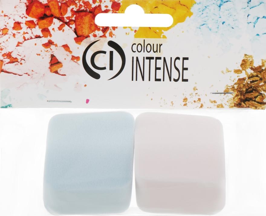 Спонжи для макияжа, розовый + голубой - Colour Intense