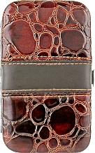 Духи, Парфюмерия, косметика Чехол-мини для маникюрных инструментов, на 7 предметов, коричневый лаковый - Элита
