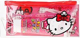 Духи, Парфюмерия, косметика Детский дорожный набор - VitalCare Hello Kitty Dental Travel Kit (teeth/brush + teeth/paste/75ml + 10 x plasters)