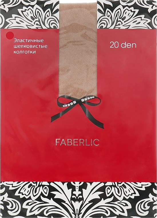Эластичные шелковистые колготки 20 Den, телесные - Faberlic