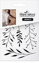 Духи, Парфюмерия, косметика Черные переводные тату - Miami Tattoos Branch (мини)