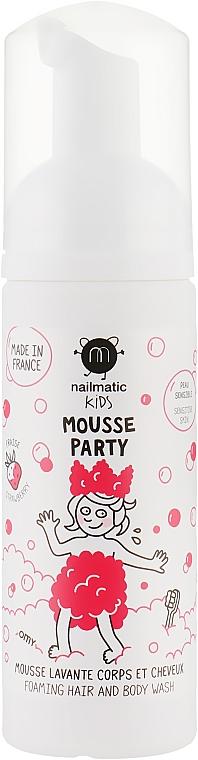 Пена для волос и тела клубничная - Nailmatic Mousse Party Foaming Hair And Body Wash